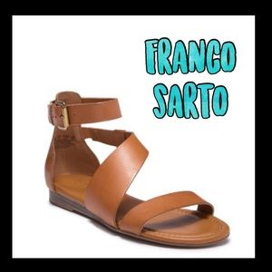 ❤️NWT❤️FRanco Sarto brown cushioned Sandals
